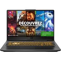 PC Portable Gaming Asus TUF Gaming F17 F17 TUF766HE HX008T 17.3 Intel Core i7 16 Go RAM 512 Go SSD Grey éclipse 1 mois d'abonnement Xbox Game Pass
