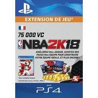 NBA 2K18 75,000 VC PS4 code de t�l�chargement