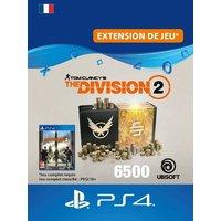 Code de t�l�chargement Tom Clancy's The Division 2 Pack de 6500 Cr�dits Premium PS4