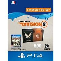 Code de t�l�chargement Tom Clancy's The Division 2 Pack de 500 Cr�dits Premium PS4