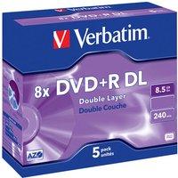 Verbatim DVD R DL 8.5 Go 8x 240 min par 5, boitier jewel