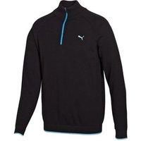 Puma Mens Solid 1/4 Zip Cotton Sweater