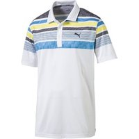 Puma Mens Jersey Stripe Polo Shirt