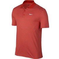 Nike Mens Victory Mini Stripe Polo Shirt (Logo on Chest)