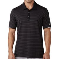 Adidas Mens ClimaChill Tonal Stripe Polo Shirt