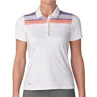 Adidas Ladies Ultimate 365 Stripe Merch Short Sleeve Polo Shirt