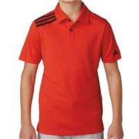 Adidas Boys 3-Stripes Solid Polo Shirt