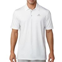 Adidas Mens Ultimate 365 White Polo Shirt (Logo on Chest)