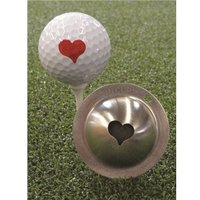 Tin Cup Ball Marker - Kiss Me