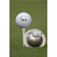 Tin Cup Ball Marker - Havana
