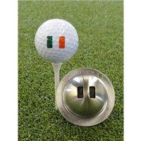 Tin Cup Ball Marker - World Flags