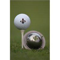 Tin Cup Ball Marker - Fleur De Lis