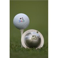 Tin Cup Ball Marker - Number 1 Dad
