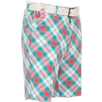 Royal and Awesome Well Plaid Golf Shorts