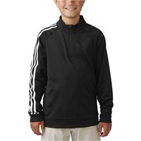 Adidas Boys 3-Stripe Quarter Zip Top