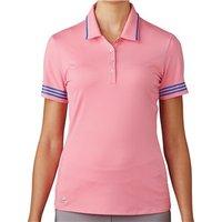 Adidas Ladies 3 Stripes Tipped Polo Shirt