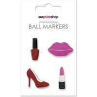 Hand Enamaled Golf Ball Marker Set