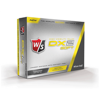 Wilson Staff DX2 Soft Yellow Golf Balls (12 Balls)