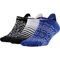 Nike Ladies Dri-Fit Graphic No Show Socks (3 Pack)