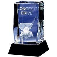 Crystal Longest Drive Golf Trophy