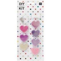 Rico  DIY Perlenset für Kinder lila-rosa 12x27x1,5cm