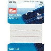 Prym Baumwollband weiß 10mm 5m