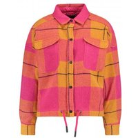 Oversized shirt jacket in big check