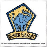 """Charity Putztuch """"Blauer Elefant"""""""
