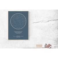 €10.49 instead of €29.99 (from Night Sky Poster) for a personalised A4 night sky constellation print, €16.99 for an A3 print, or €27.99 for an A2 print - save up to 65%