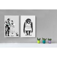 €11 instead of €104.68 (from Deco Matters) for a luxury A2 Banksy canvas - choose from over 30 designs and save 89%