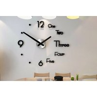 €14.99 instead of €45.07 (from Domo Secret) for a 3D DIY number wall clock, choose from three colours and save 67%