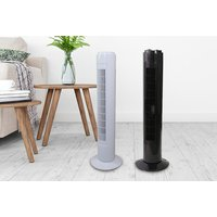 €14.99 for a three-speed oscillating tower fan - choose from two colours!