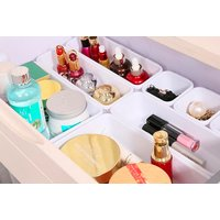 £12.99 for an eight-piece set of black or white plastic drawer dividers from Wish Imports!