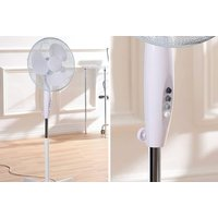 """£14.99 for an oscillating 16"""" free standing white fan or £29 for two fans from Global Gift House!"""
