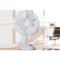 £12.99 instead of £29.99 for a white 12-inch desk fan from Global Gift House - save 57%