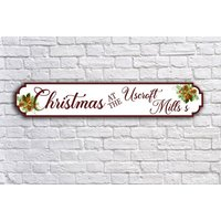 €13.16 instead of €48.73 for a 55cm x 10cm customised festive sign or €16.45 for a 78cm x 14cm sign from Colour House - save up to 73%