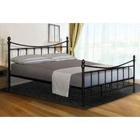 'From £69 Instead Of £399.99 For A Black Or White Victorian Metal Bed Frame In Small Double, Double Or King Sizes, Or From £129 For A Bed Frame And Kerri Mattress From Ukfurniture4u - Save Up To 83%