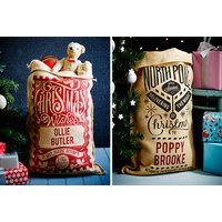 £7.99 instead of £19.01 (from The Handmade Christmas Company) for a personalised Christmas sack, or £13.99 for two - choose from 15 designs and save up to 58%