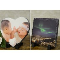 From £9 (from Your Perfect Canvas) for a personalised photo slate - choose from heart, square and two sizes of rectangle designs and save up to 80%