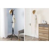£7.99 instead of £24.99 (from Vivo Mounts) for a metal 12-hook coat and hat stand - choose from two colours and save 68%