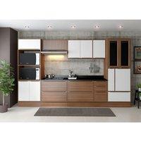 Cozinha Completa Oran 14 Pt 5 Gv Branco E Nogueira