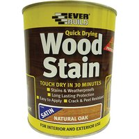 Everbuild WVARCLS07 Quick Dry Wood Varnish Satin Clear 750ml