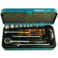 Bernstein 6-320 Socket Wrench Set In Metal Case - 16 Piece