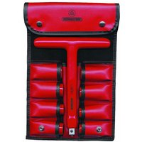 Bernstein 16-440 VDE Sockets With T-Socket Wrench Red Imitation Le...