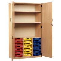 Monarch 21 Tray Storage Cupboard with Lockable doors