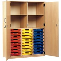 Monarch 24 Shallow Tray Storage Cupboard with Full Lockable Doors