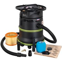 Sealey DFS35M Vacuum Cleaner Industrial Dust-Free Wet andamp; Dry 35ltr ...