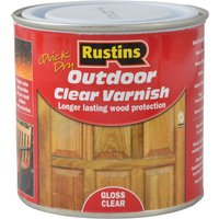 Rustins EAVG250 Quick Drying Outdoor Clear Varnish Gloss 250ml