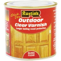 Rustins EAVG1000 Quick Drying Outdoor Clear Varnish Gloss 1 Litre