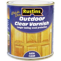 Rustins EAVS250 Quick Drying Outdoor Clear Varnish Satin 250ml
